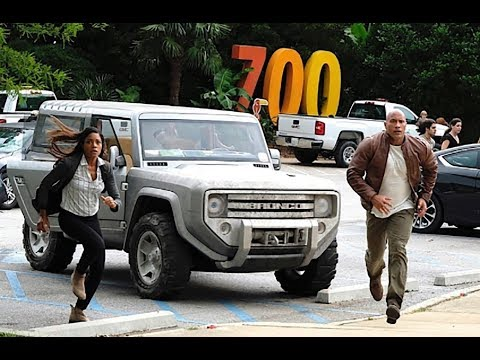 New Ford Bronco Z concept  in film Rampage  with Dwayne Johnson
