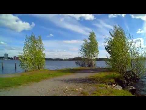 Biking in Jyväskylä Finland Harbour Lake Jyväsjärvi
