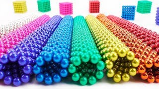 Playing with 1000 Magnetic Balls | Learn Colors for Kids | Make Shapes with Magnetic Balls
