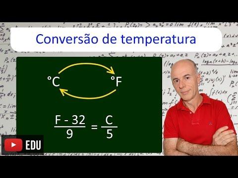 Conversão Temperatura de Fahrenheit para Celsius e Celsius para Fahrenheit