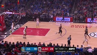 1st Quarter, One Box Video: LA Clippers vs. Golden State Warriors