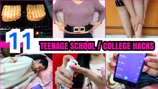 11 SMART LIFE HACKS For TEENAGERS | School + College Hacks to Look Attractive !