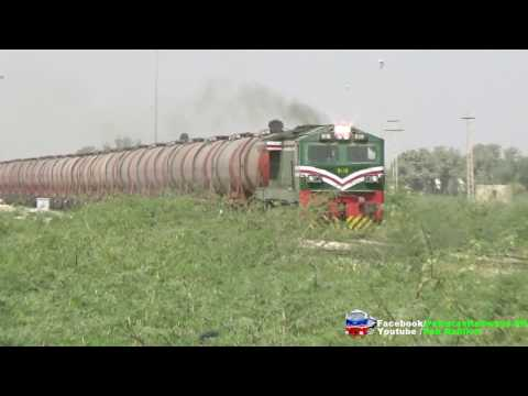 Chinese Dhalian Locomotive 6116 Hauling Long Crude Oil Freight Of Pakistan Railways