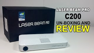 Laser Beam Pro C200 Android Mini Pocket Projector focus free - Un-boxing