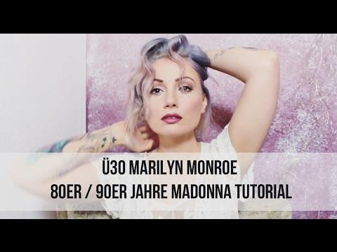 ü30 Marilyn Monroe 80er 90er Madonna Make Up Tutorial Youtube