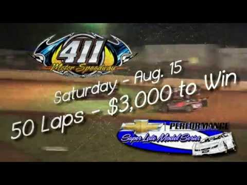 411 Motor Speedway Chevrolet Super Series Aug 15 , 2015 Commercial