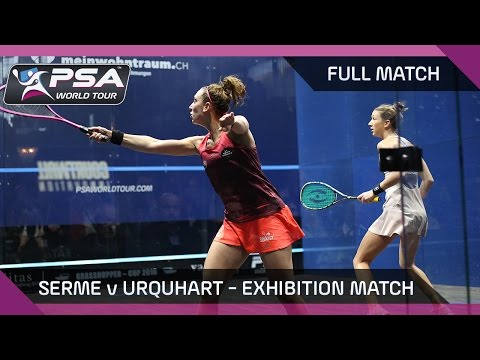 Squash: Serme v Urquhart - Exhibition Match, Zürich - FULL MATCH
