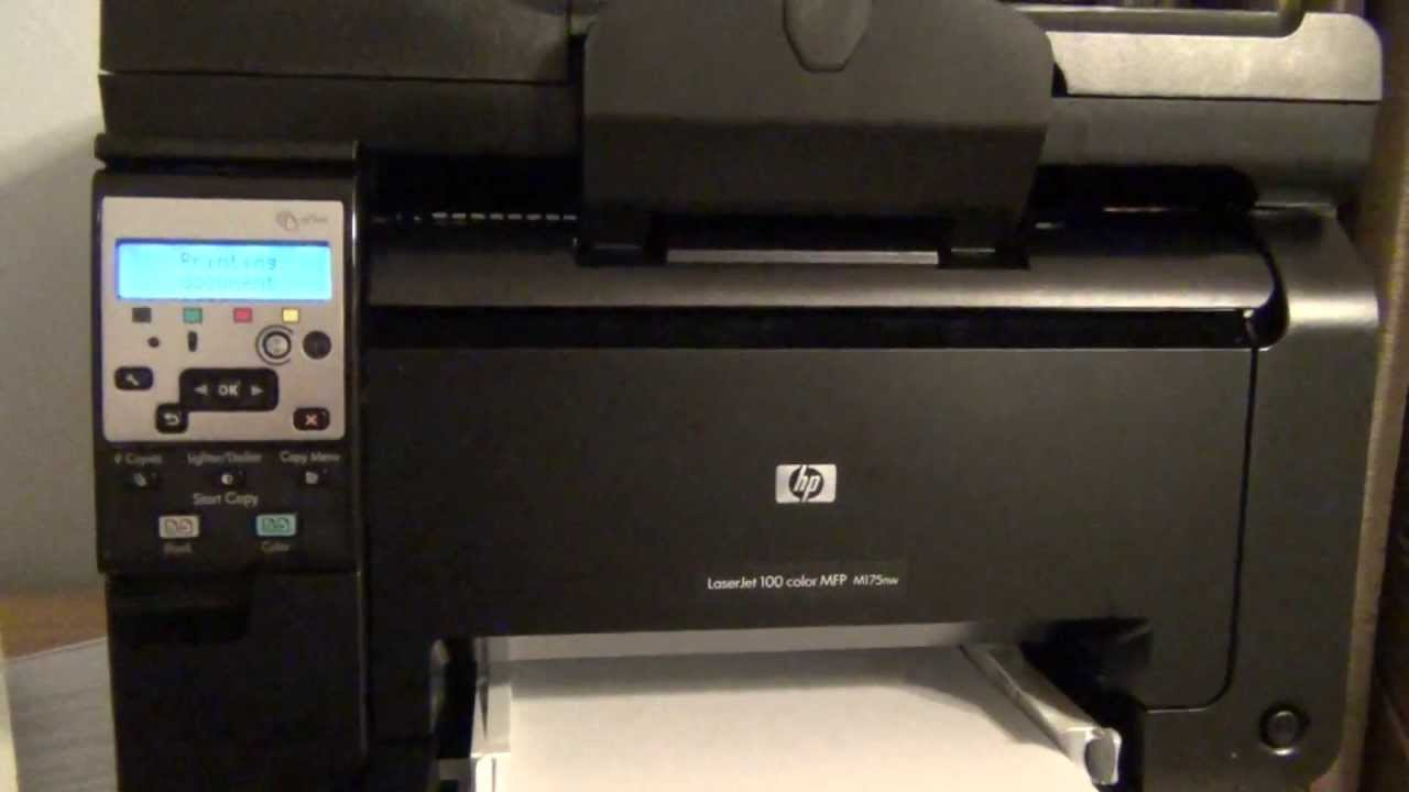 hp laserjet 100 color printer m175nw setup and first print youtube - Laserjet 100 Color Mfp M175nw