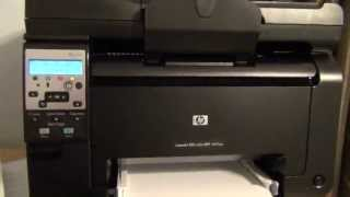HP LaserJet 100 Color Printer M175nw Setup and First Print