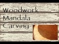 Wood Carving Mandala Part 3 ~ Cleaning up Edges