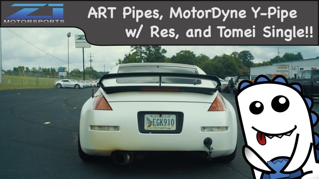 MotorDyne ART Pipes, XYZ w/ Resonator, and Tomei Single
