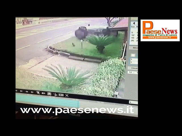 cellole incidente auto ribaltata