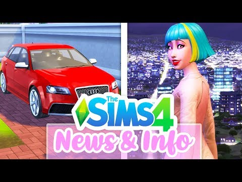 CARS, FAMOUS CHILDREN, NEW WORLD INFO // THE SIMS 4 GET FAMOUS⭐🎥 | NEWS & INFO
