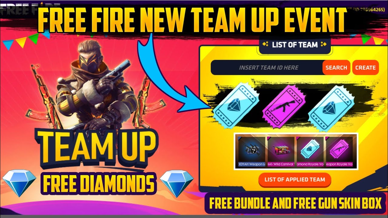 Free Fire Team Up Event Full Details How To Collect Team Up Event Points