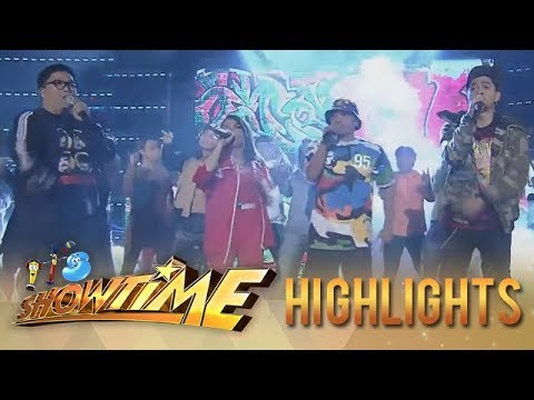 """It's Showtime: KZ, Jhong, Teddy and Jugs performs a medley of """"Nadarang"""" and """"S2pid Luv"""""""