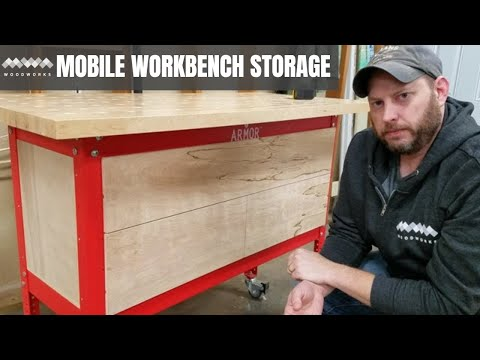 How to Add Storage to Your Mobile Workbench | Easy Woodworking Projects
