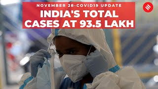 Coronavirus Update Nov 28: India's total Covid-19 cases reach 93.5 lakh