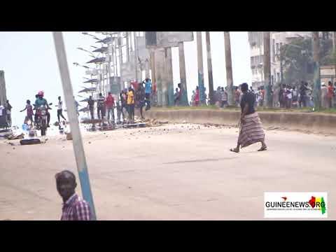 Conakry: vite étouffée par les forces de l'ordre, la marche des opposants tourne à l'intifada