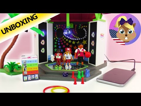 PLAYMOBIL CHILDREN DISCO HOTEL with real music and light effects | Unboxing 5266