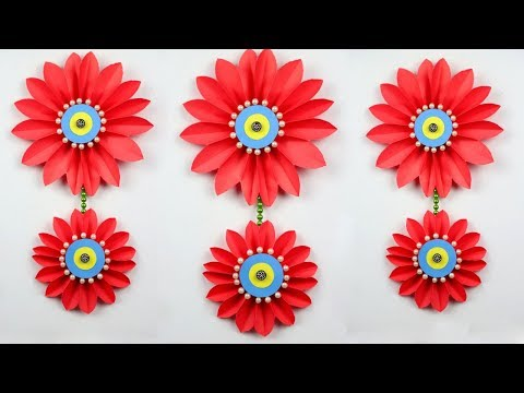 Repeat Beautiful Paper Flower Wall Decoration Easy Wall Decoration