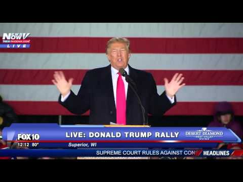 FNN: FULL Donald Trump Rally - Superior, WI