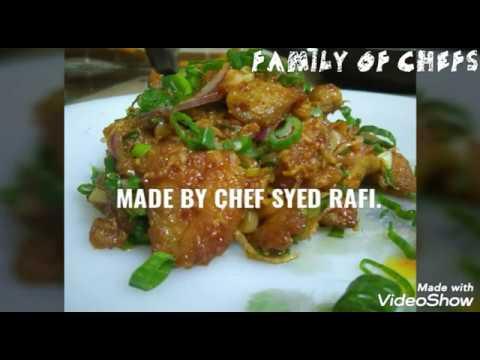 Garlic Fried Chicken- CHEF Syed Rafi- Family Of Chefs