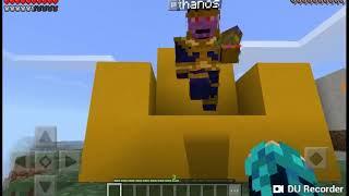 Quase Matei o Thanos  no Mundo do Minecraft!