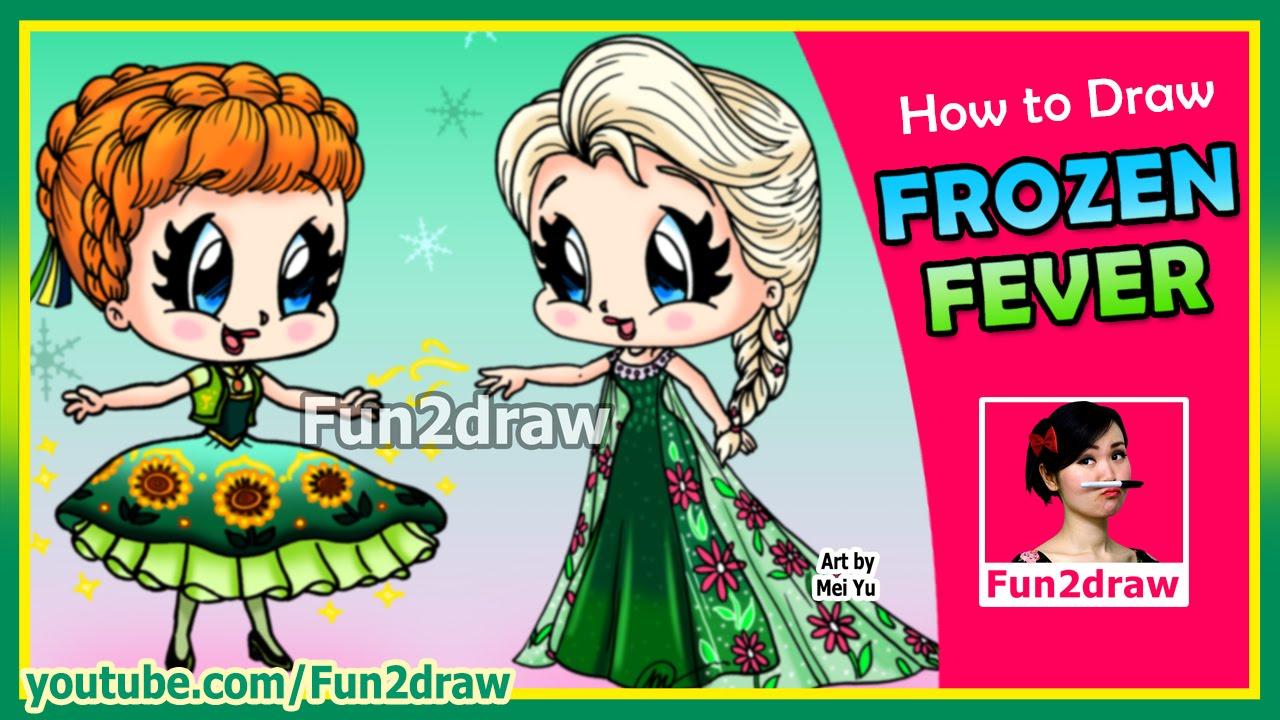 How To Draw Anna Elsa Frozen