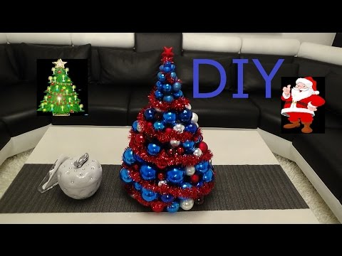 diy weihnachtsbaum aus christbaumkugeln christbaum aus. Black Bedroom Furniture Sets. Home Design Ideas
