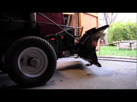Installing Snow Blade Ongarden Tractor Youtube
