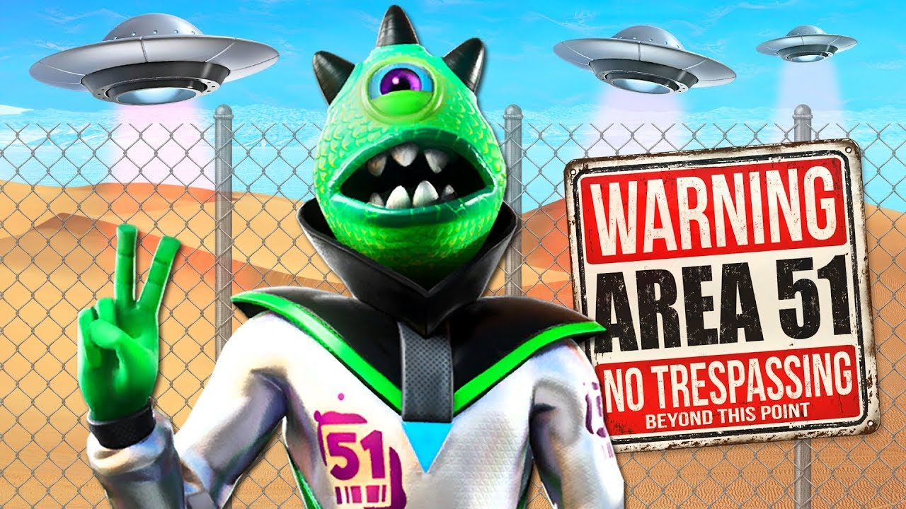 NEW Area 51 Raid ALIEN Skin and NARUTO RUN! (Fortnite Battle Royale) thumbnail