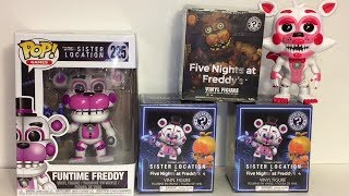 Five Nights at Freddy's Sister Location Funtime Freddy Mystery Mini Blind Boxes Toy Opening