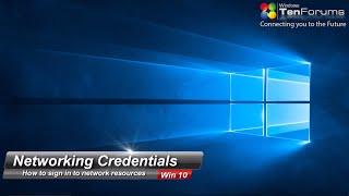 Windows 10 Networking & Remote Credentials