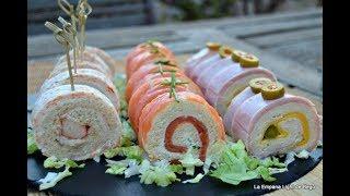 Rollitos de Canapés con Pan de Molde 3 Recetas Fáciles y Rápidas