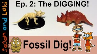 Triceratops Fossil! Part 2: Digging ⛏ Dino World Fossil Kit Review 💡 Prehistoric Lesson Plans