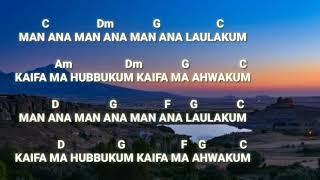 Kunci Gitar || MAN ANA LAULAKUM   ( Cover by Ai khodijah)