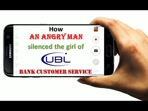 How an Man silenced the girl of UBL Bank Customer Care Service Center