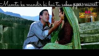 Mamta Ke Mandir Mein Hai Tu Sabse Pyari Murat( Karan Arjun movie video song) WhatsApp 30 second😘🎶