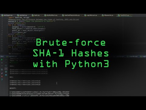 How to Use Beginner Python to Build an SHA1 Hash Brute-Forcer thumbnail