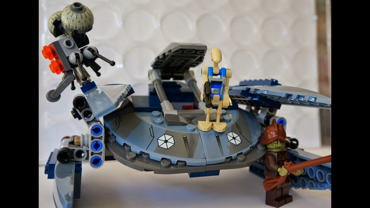 Lego star wars vulture droid 75041 youtube - Lego star wars vaisseau droide ...
