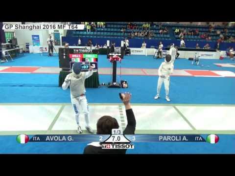 FE M F Individual Shanghai CHN GP 2016 T64 12 green PAROLI ITA vs AVOLA ITA