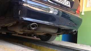 mercedes s320 cdi w220 exhaust sound revving start up