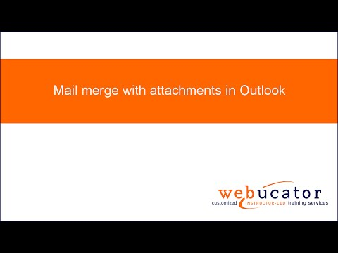 Mail merge with attachments in Outlook