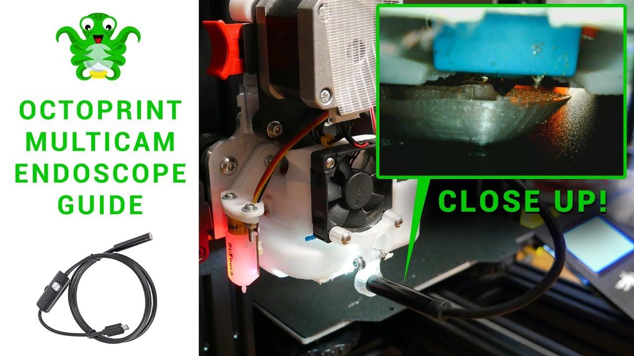Octoprint multicam endoscope guide - Macro nozzle vision