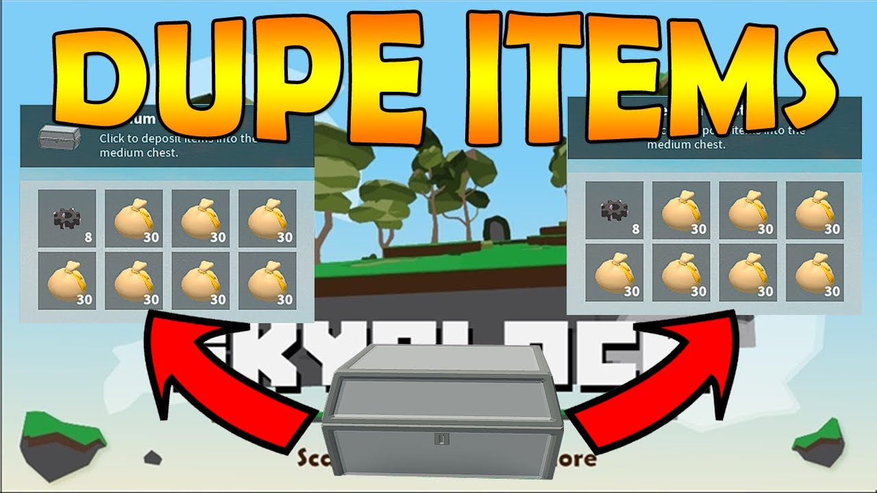 Roblox Skyblock Duplication Glitch Youtube