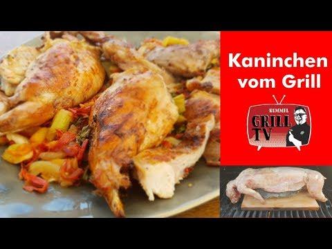 Kaninchen Grillen im Ganzen- 2 Varianten- Chorizo/Pfirsich Wokgemüse