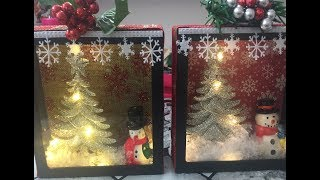 DIY Dollar Tree Christmas shadow box 🎄⛄🛷🔔