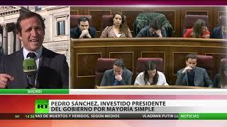 Sánchez, investido presidente: España tendrá el primer gobierno de coalición desde la Transición