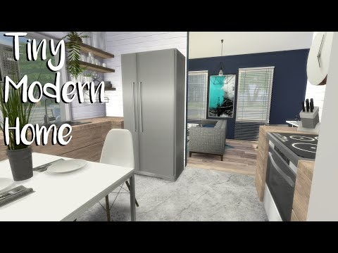 The Sims 4: Speed Build TINY MODERN HOME + CC Links