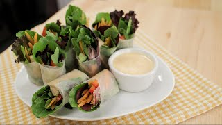 Fresh Spring Rolls w/ Spicy Garlicky Creamy Dip - Hot Thai Kitchen!